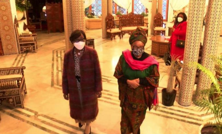 Photo of RDC : tête-à-tête entre la ministre des Affaires étrangères et Bobi Ladawa, veuve du Maréchal Mobutu, à Casablanca