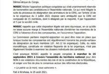 Photo of CENI-Réformes électorales : la NOGEC partant pour une marche ce 15 septembre